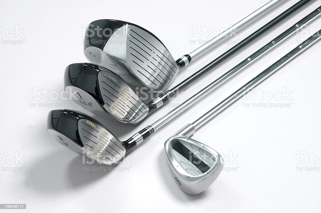 Golf clubs 2 royalty-free stock photo