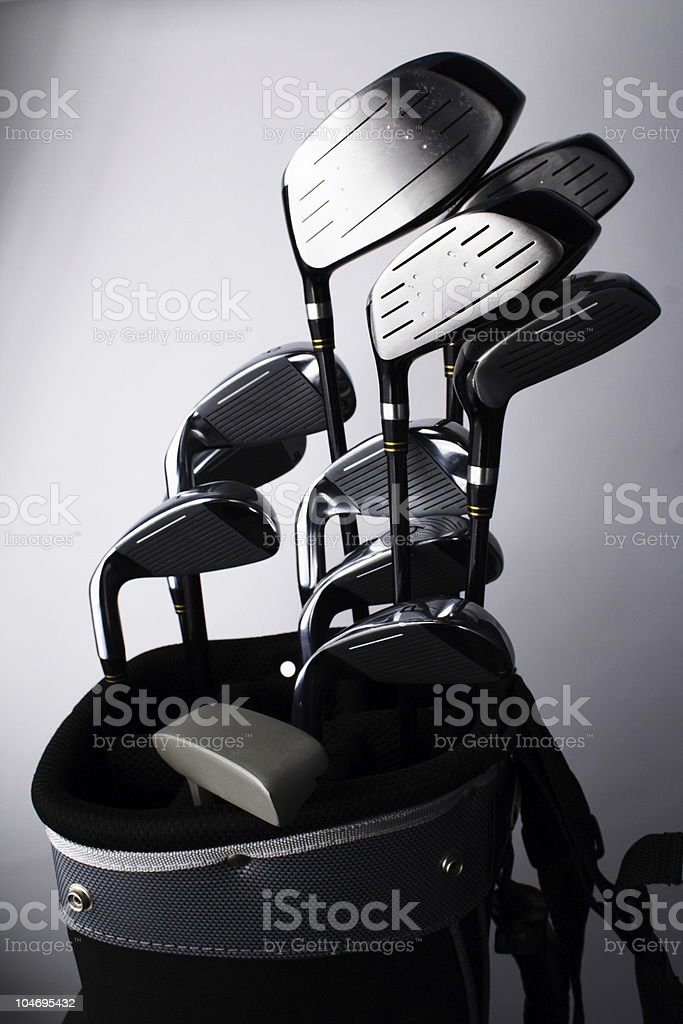 Golf Clubs and Bag stock photo