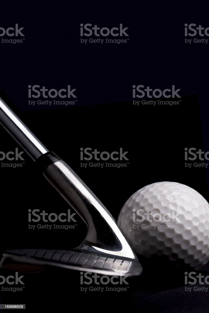 Golf Clubs and Ball royalty-free stock photo