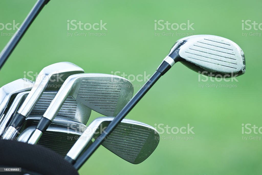 golf clubs close-up royalty-free stock photo