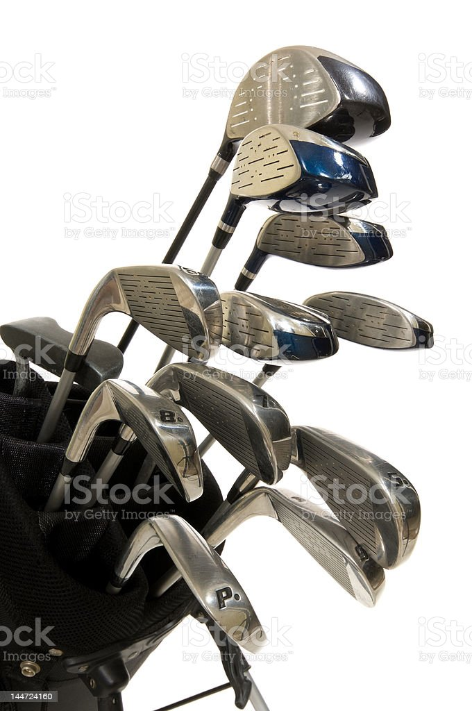 Golf Clubs on white royalty-free stock photo