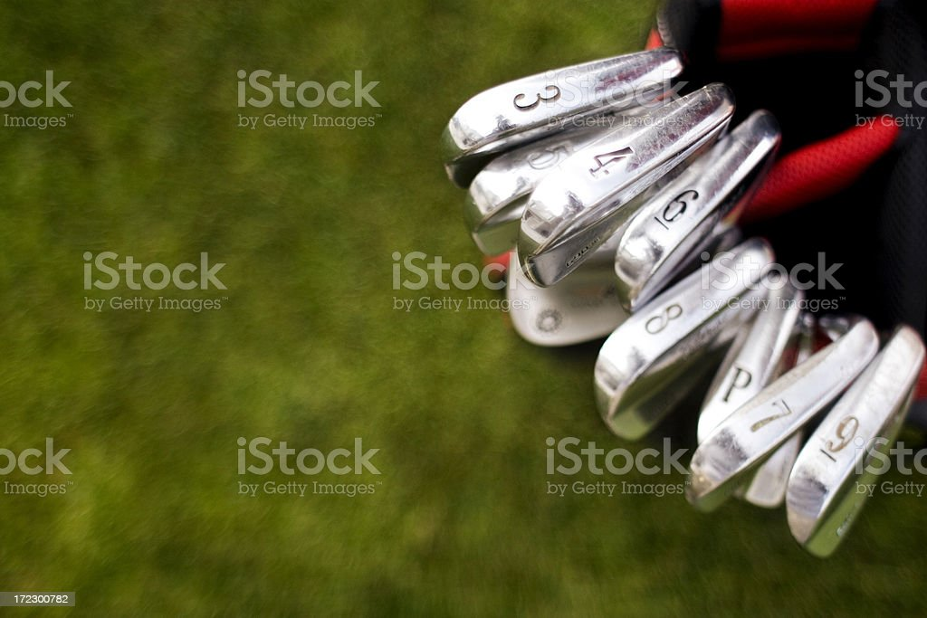 Golf Clubs stock photo