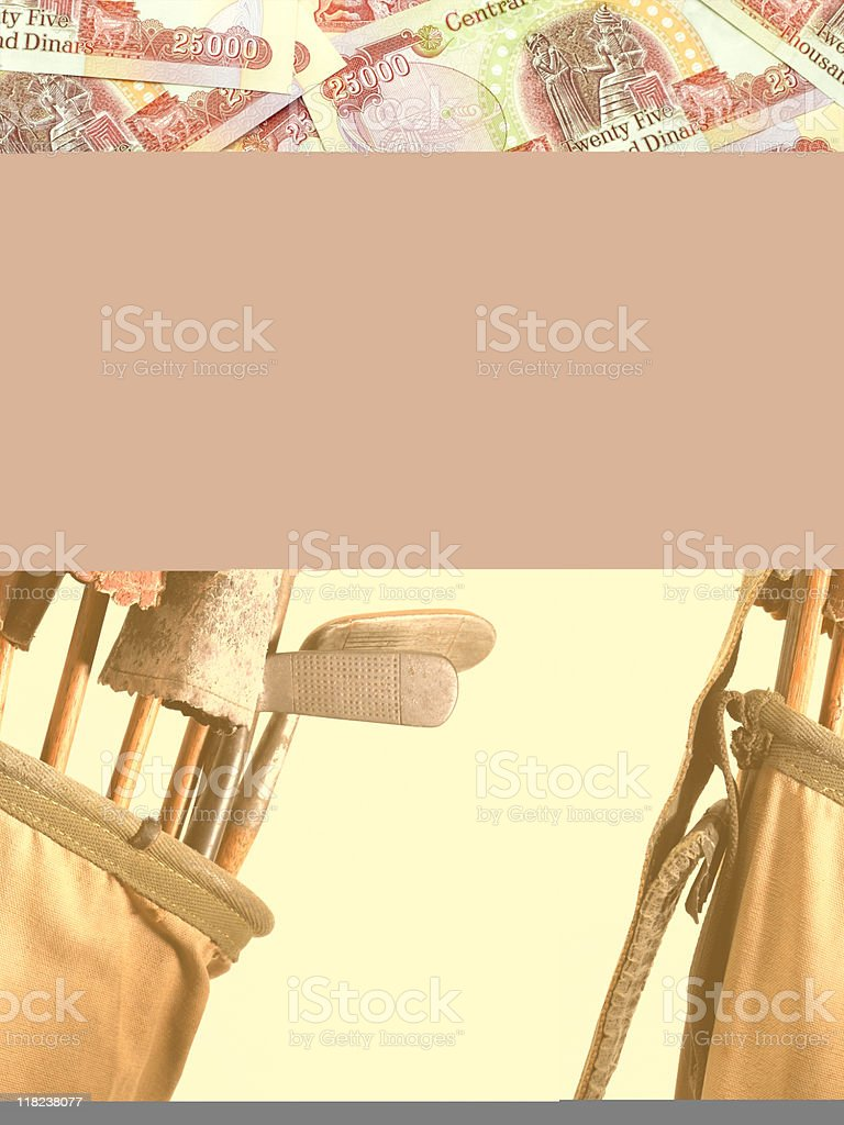 Golf Clubs  Vintage royalty-free stock photo