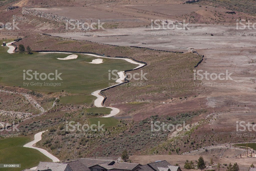 Golf community stock photo