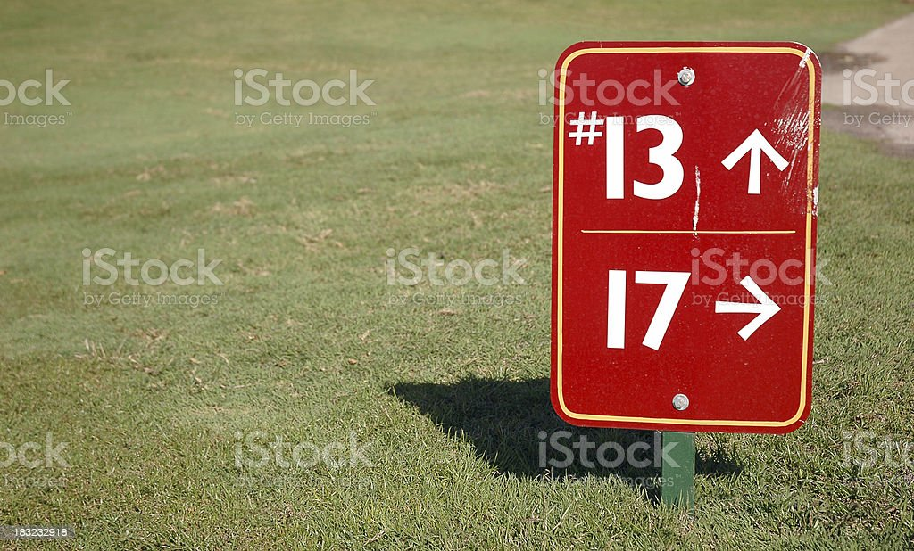 golf course 13 and 17 royalty-free stock photo