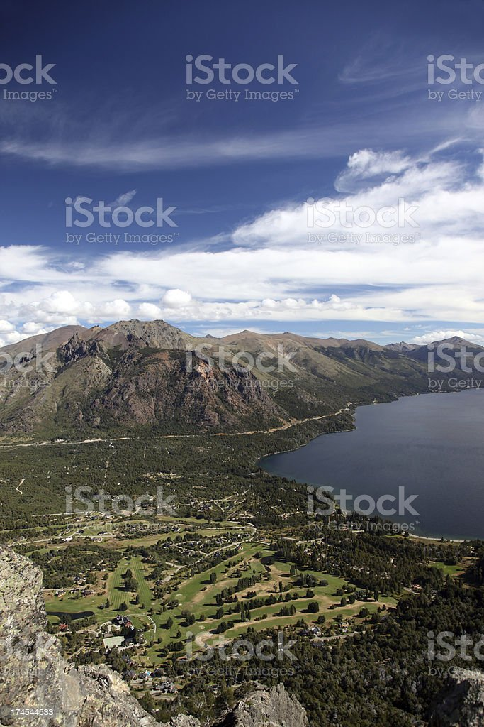 Golf Course Aerial View, Bariloche, Argentina royalty-free stock photo