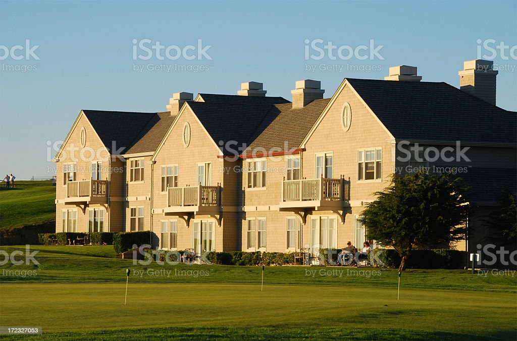 Golf Course and House royalty-free stock photo