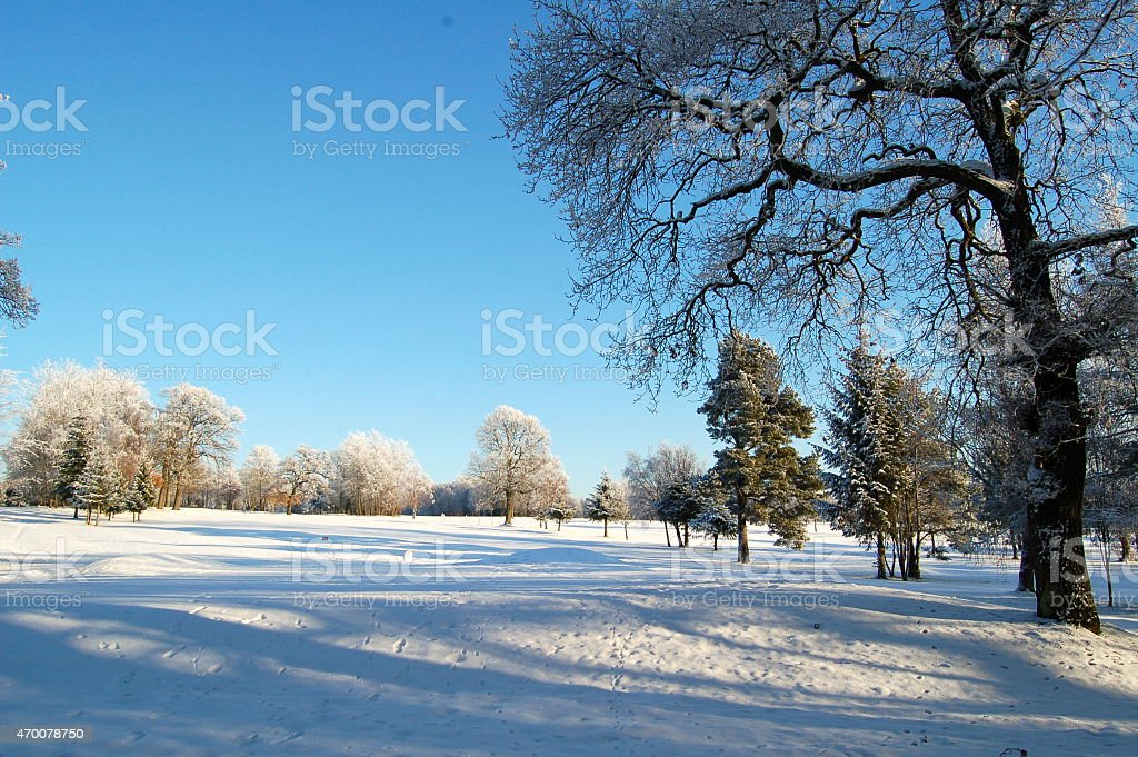 Golf course at Bellshill, Lanarkshire stock photo
