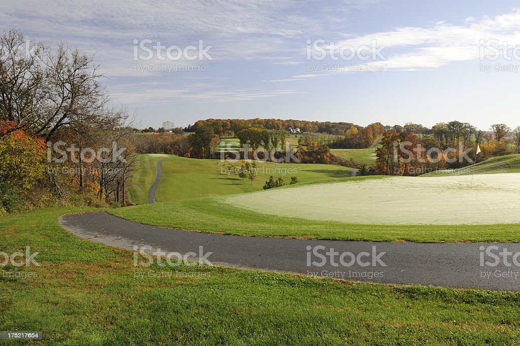 Golf Course at Lehigh Valley stock photo