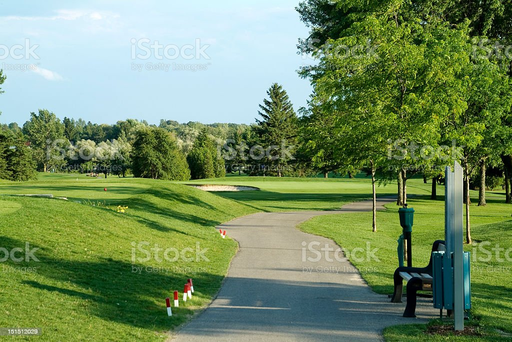 Golf Course Cart Path royalty-free stock photo