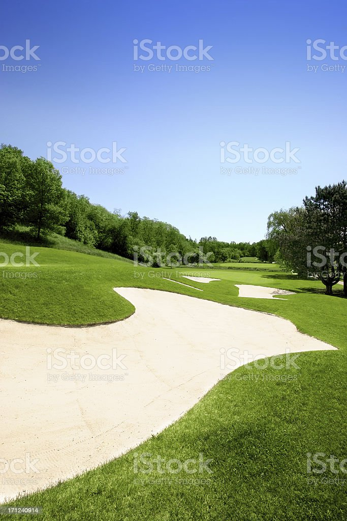 Golf Course - Challenging Shot royalty-free stock photo