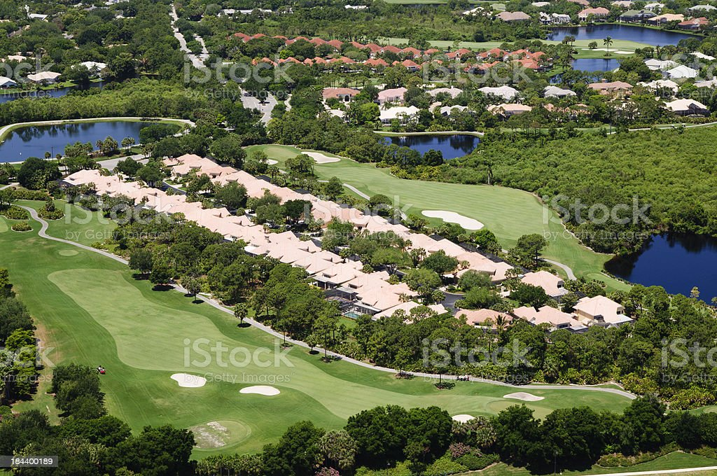 Golf Course Community royalty-free stock photo