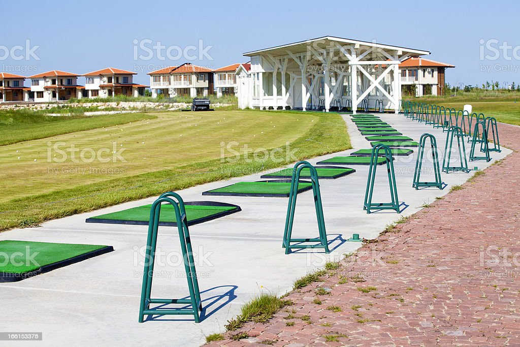 Golf course driving range royalty-free stock photo