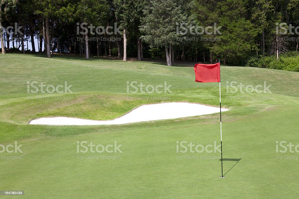 Golf Course Flag royalty-free stock photo
