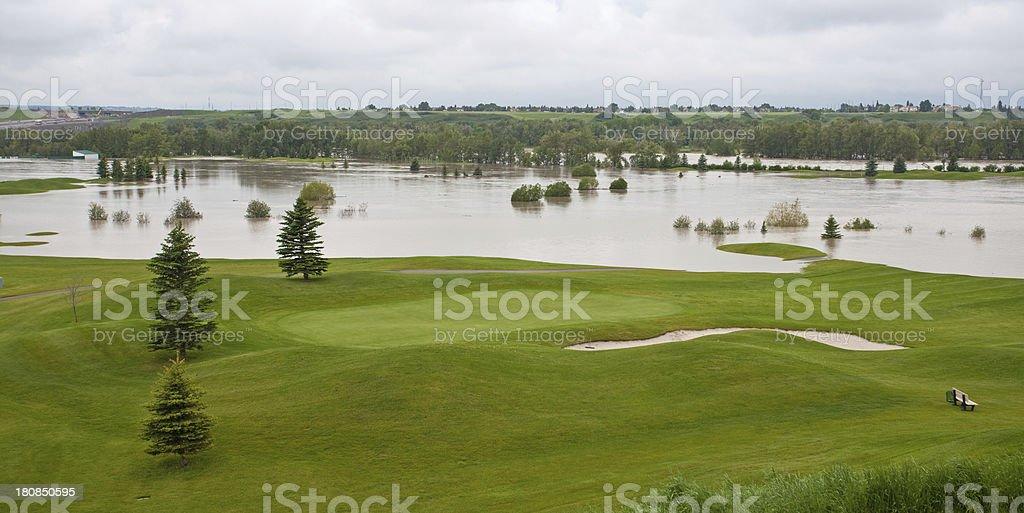 Golf Course Flood stock photo