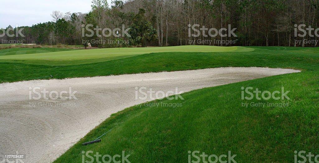 Golf Course Florida Winter Series royalty-free stock photo