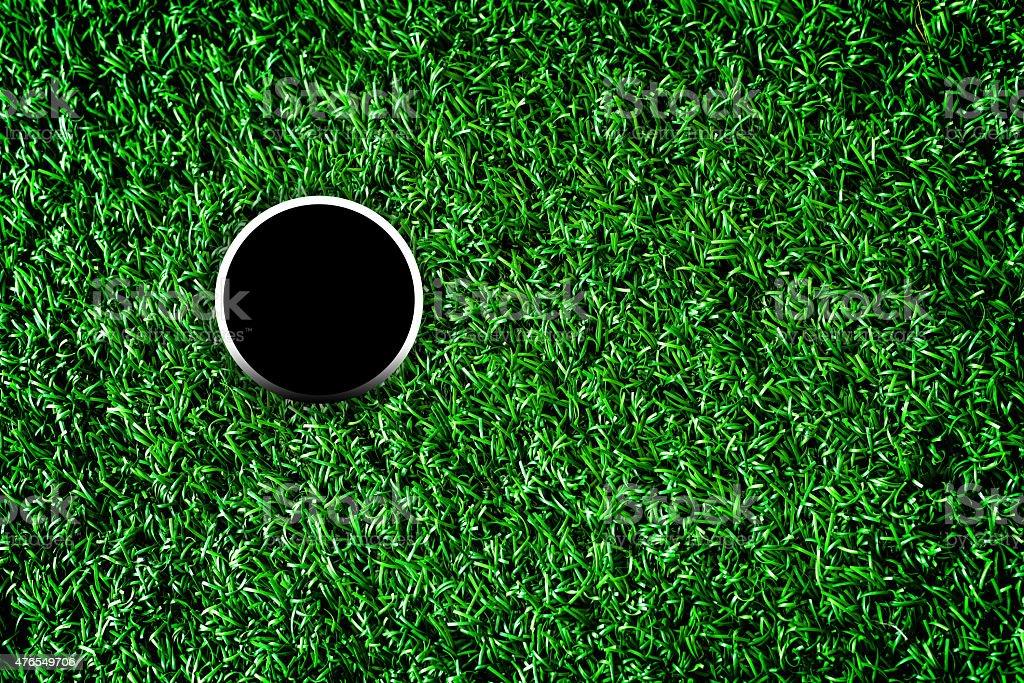 Golf course hole stock photo