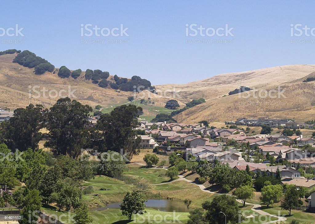 Golf Course Housing Development stock photo