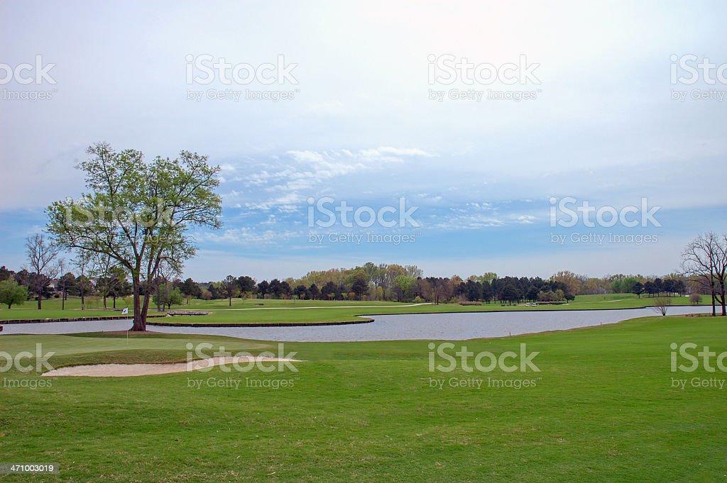 Golf Course I stock photo