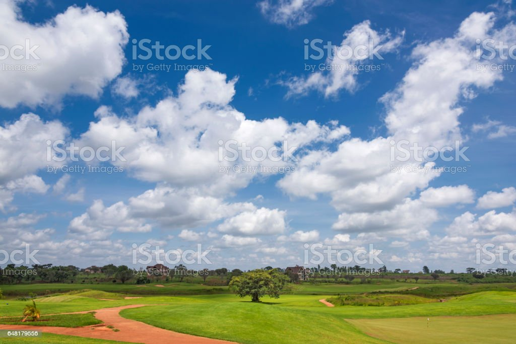 Golf Course in Africa stock photo