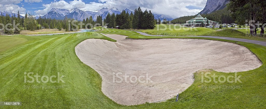 Golf Course in Banff National Park, Alberta stock photo