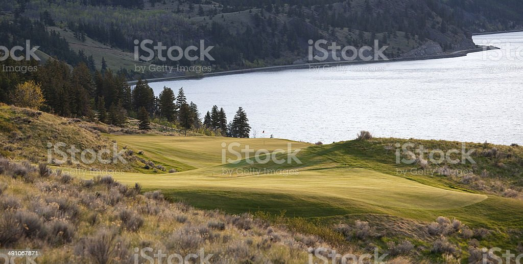 Golf Course in British Columbia stock photo
