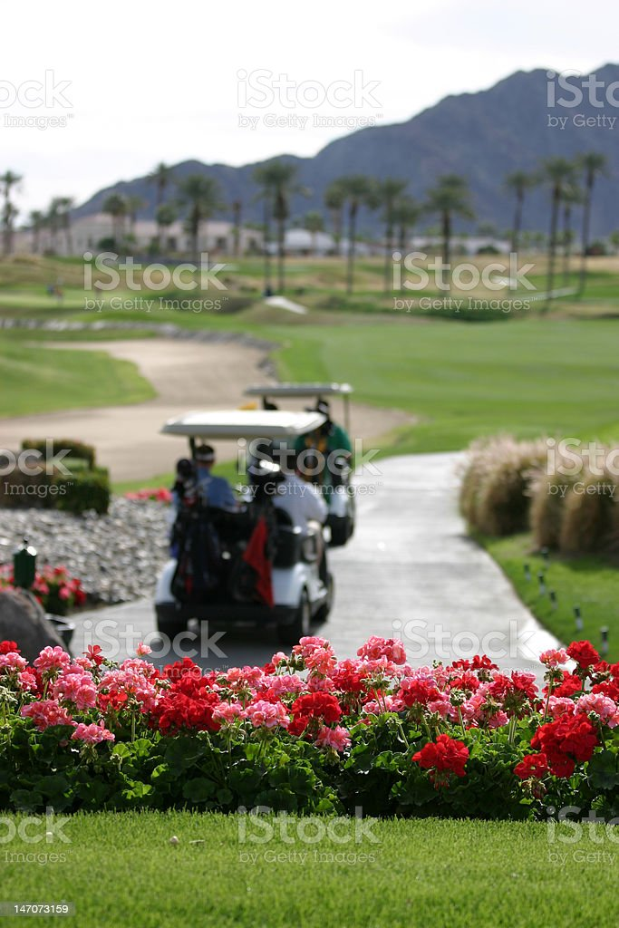 Golf Course in California royalty-free stock photo