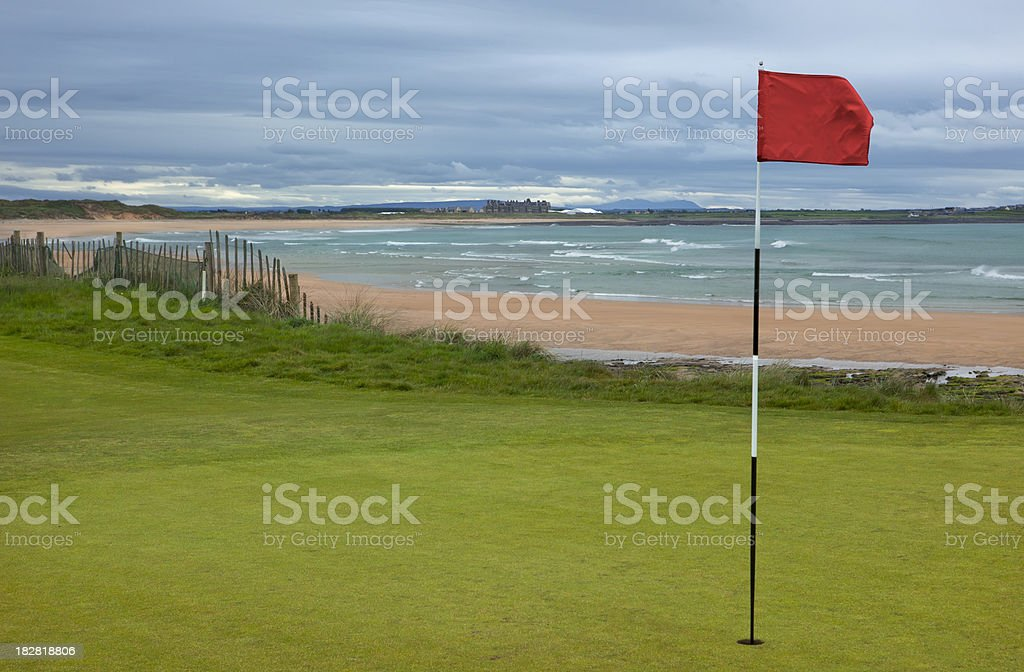 Golf Course in Ireland royalty-free stock photo