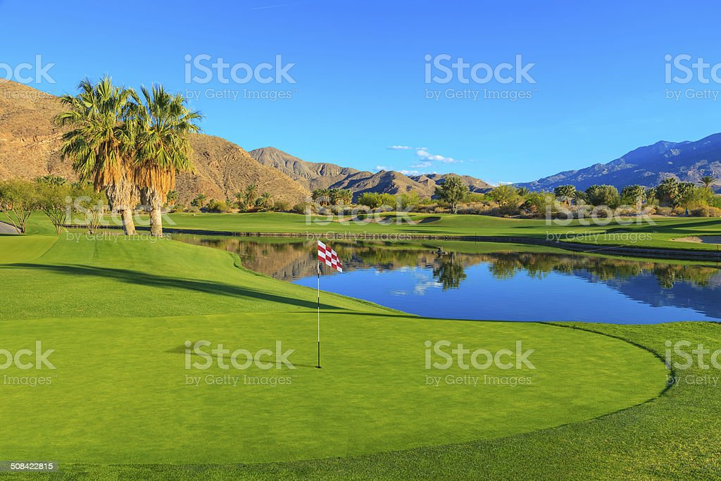 Golf course in Palm Springs, California stock photo
