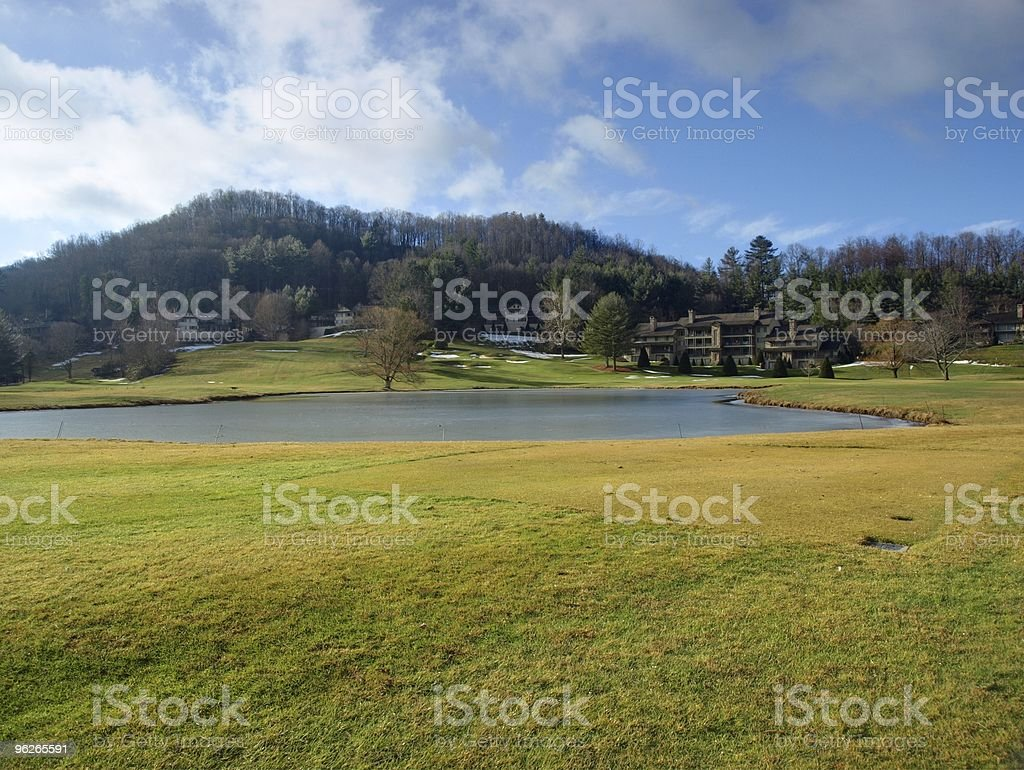 golf course in the mountains royalty-free stock photo