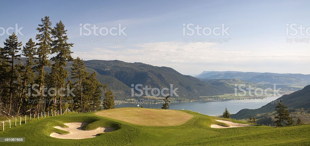 Golf Course in the Thompson Okanagan stock photo