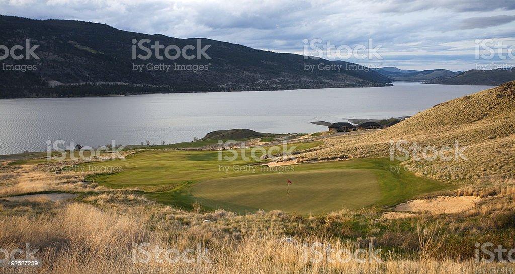 Golf Course in the Thompson Okanagan stock photo