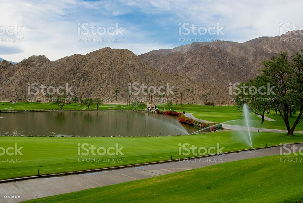 Golf Course La Qunita California stock photo