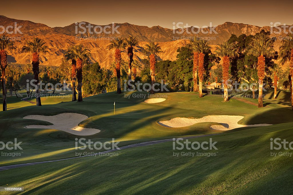 Golf Course Landscape stock photo