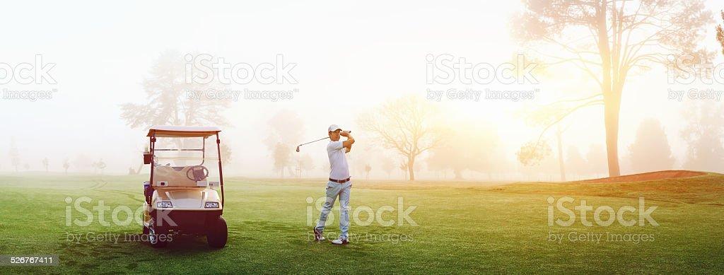 golf course man stock photo