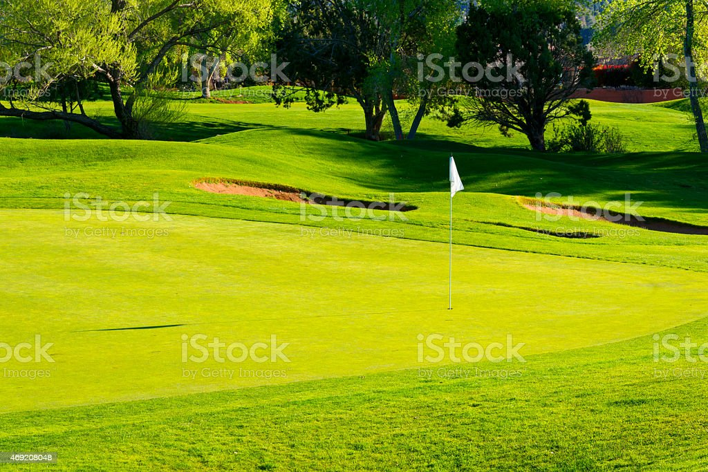 Golf Course near Sedona stock photo