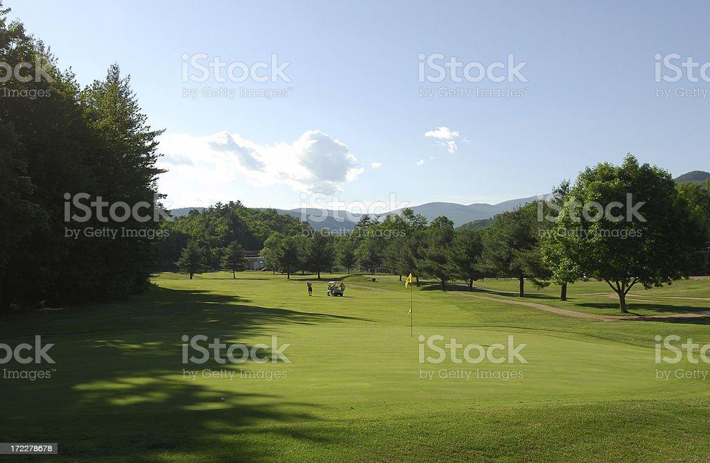 Golf Course, New Hampshire stock photo