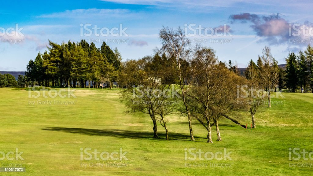 Golf Course on Springtime stock photo