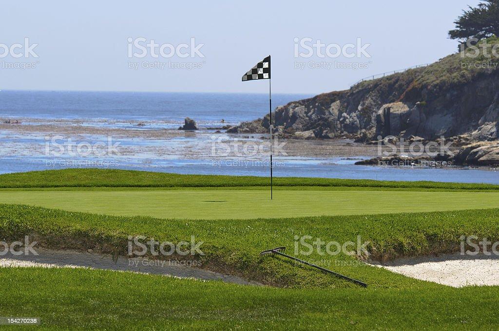 Golf Course on the Ocean stock photo
