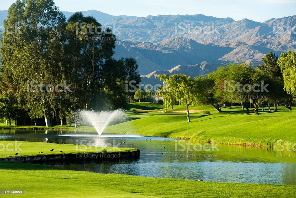 Golf Course Palm Springs California royalty-free stock photo