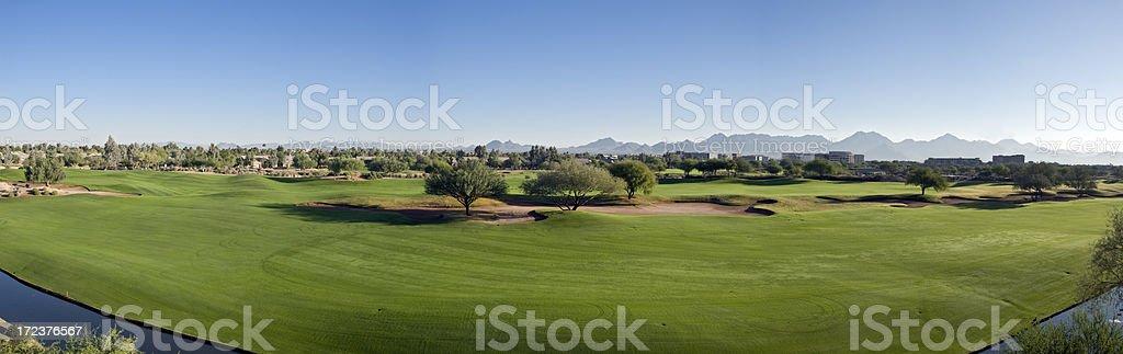 Golf Course Panorama stock photo