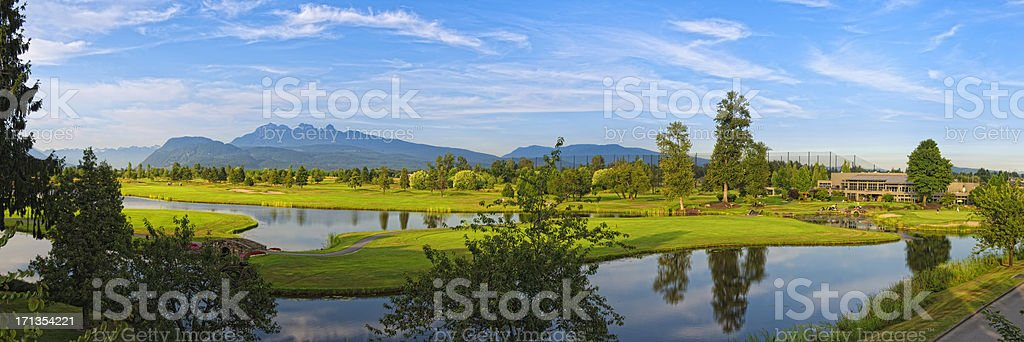 Golf Course Panorama XXXL stock photo