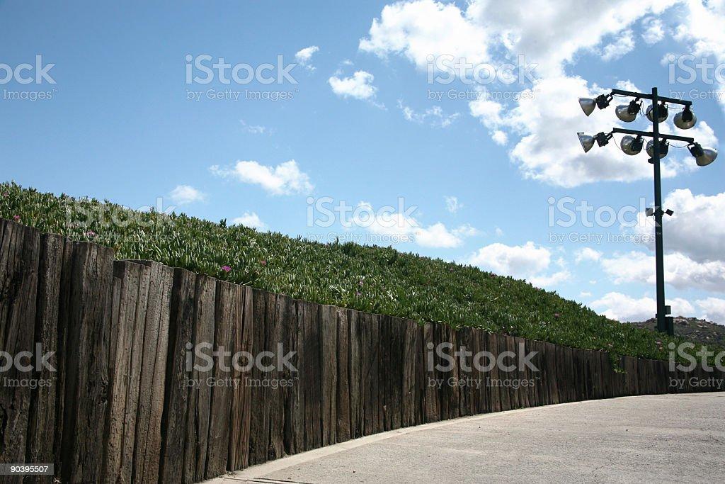 golf course path stock photo
