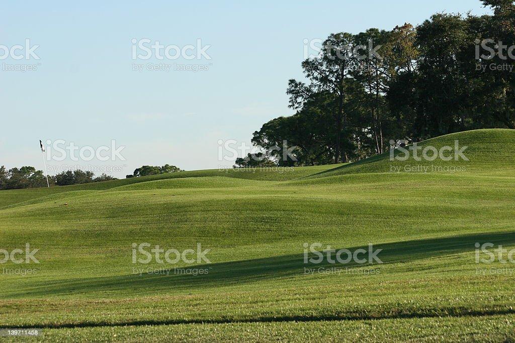 Campo de Golf foto de stock libre de derechos