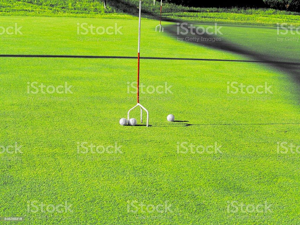 Golf course stock photo