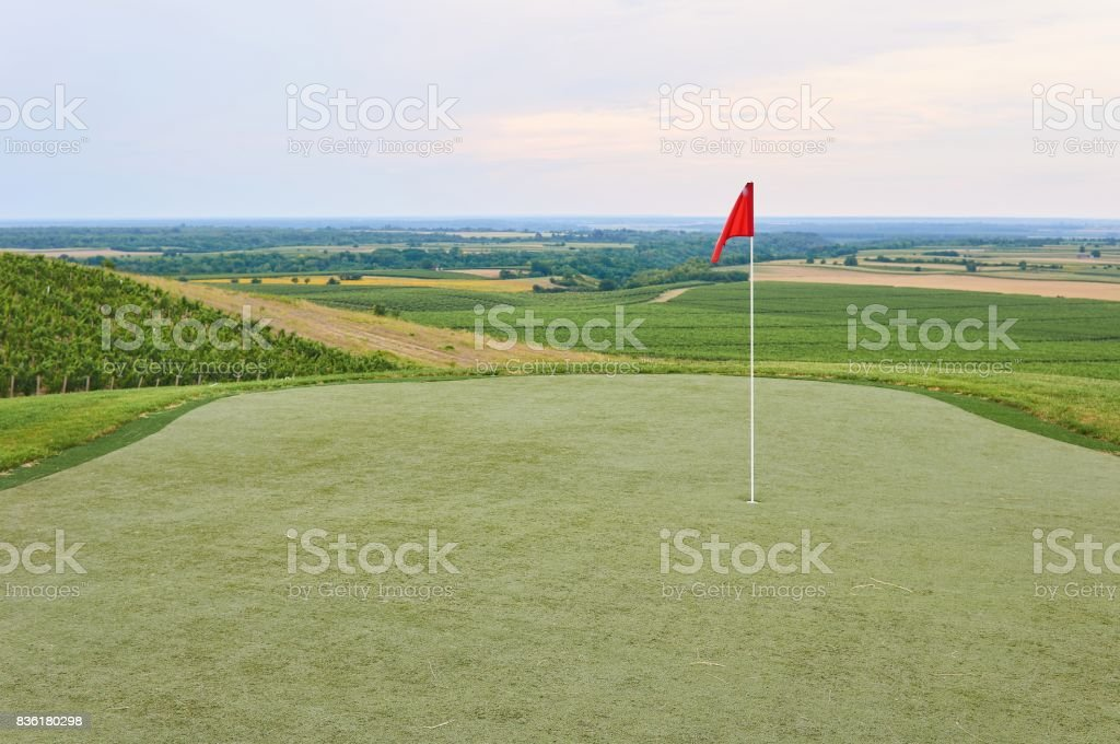 Golf terrain. stock photo