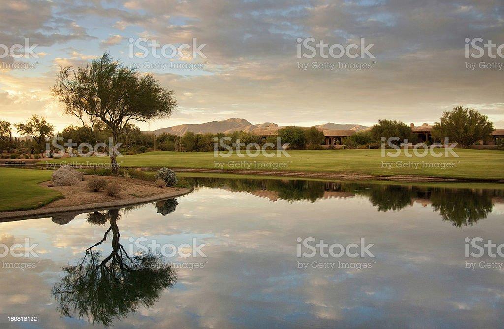 Golf Course Pond stock photo