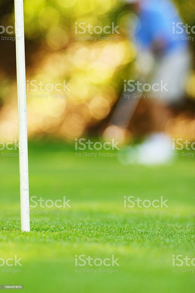 Golf Course Putting Green Links stock photo