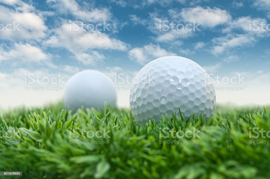 Golf course rivalry stock photo