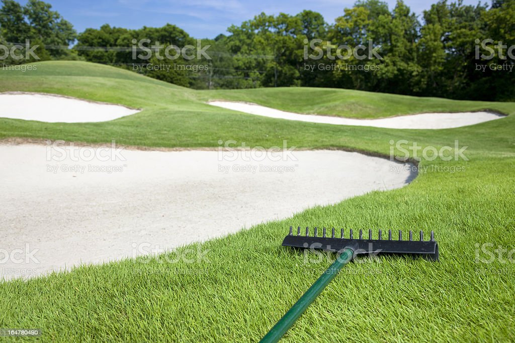 Golf Course Sand Trap royalty-free stock photo